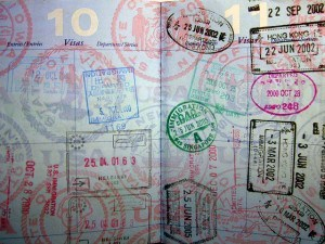 Passport full of stamps